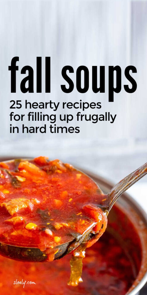 Frugal Fall Soup Recipes
