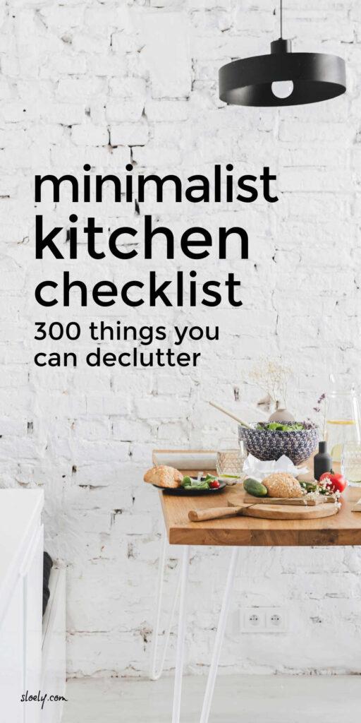 Minimalist Kitchen Declutter Checklist