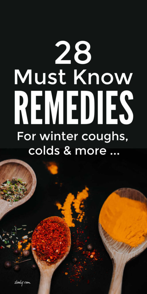 Homemade Remedies For Coughs & Colds