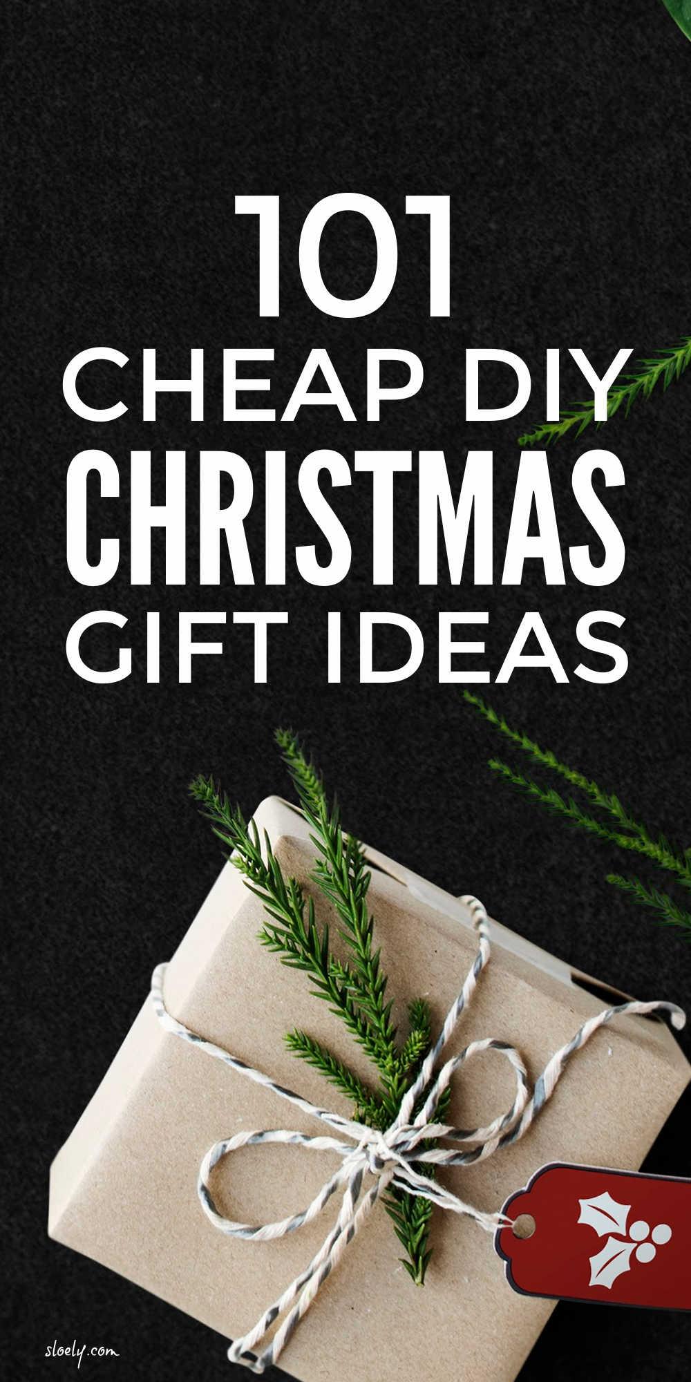 Cheap DIY Christmas Gift Ideas