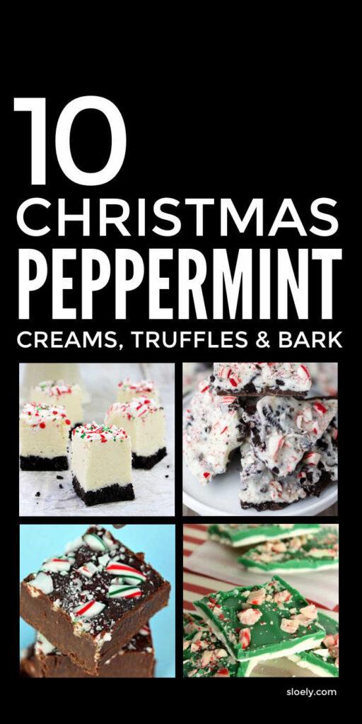 Christmas Peppermint Creams, Truffles & Bark Recipes