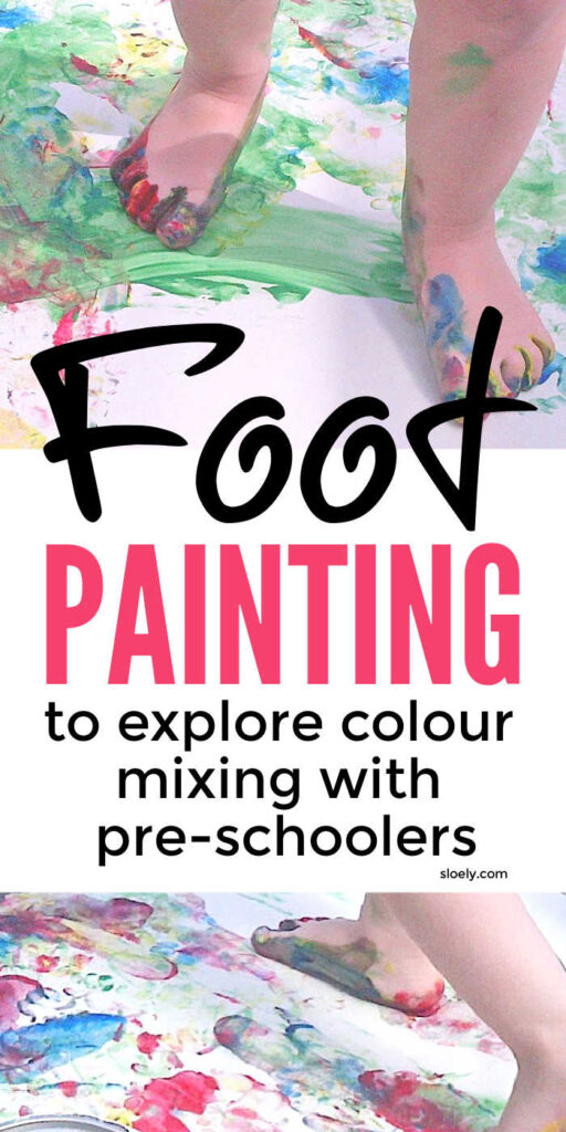 Foot Painting Color Mixing Activities For Preschool