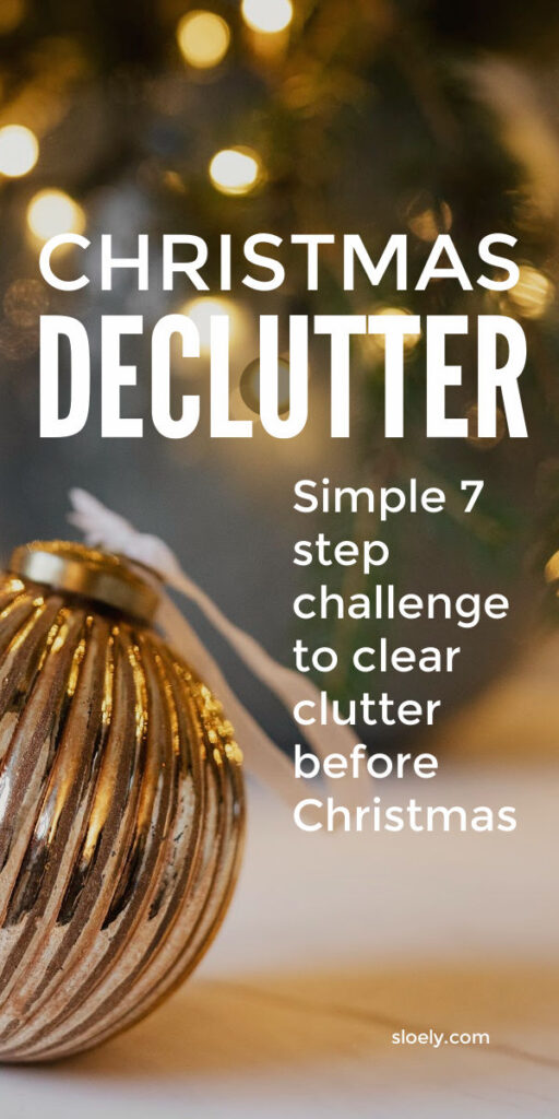 Before Christmas Declutter Challenge