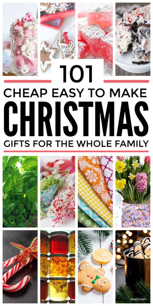 Cheap DIY Homemade Christmas Gifts