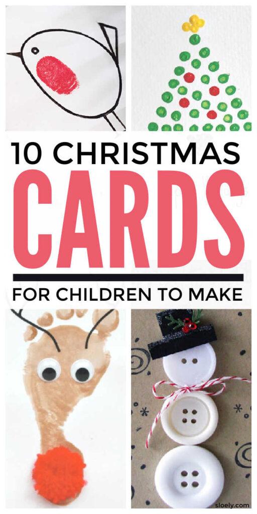 Handmade Christmas Cards Kids Can Make