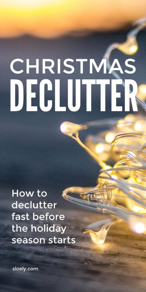 Christmas Declutter Challenge