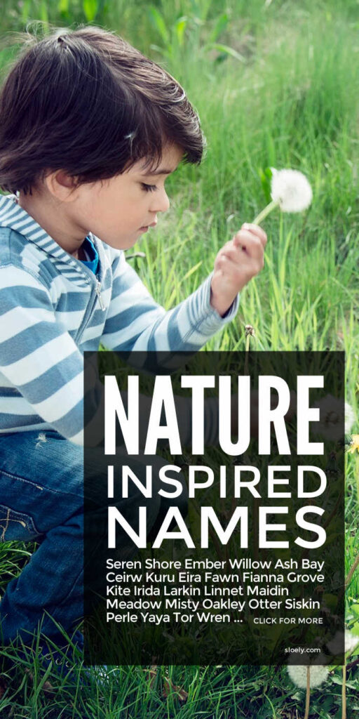 Nature Names For Boys and Girls