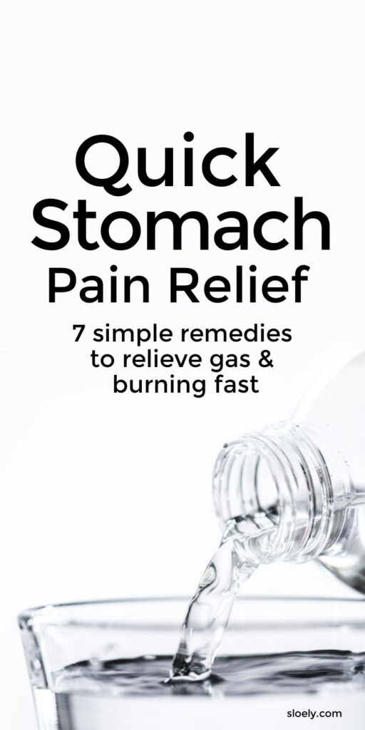 Quick Stomach Pain Relief
