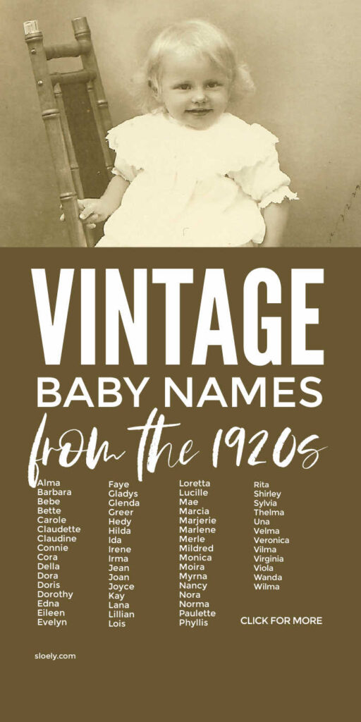 Vintage Baby Names For Girls