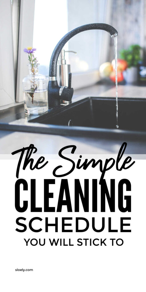 Simple Daily Cleaning Schedule