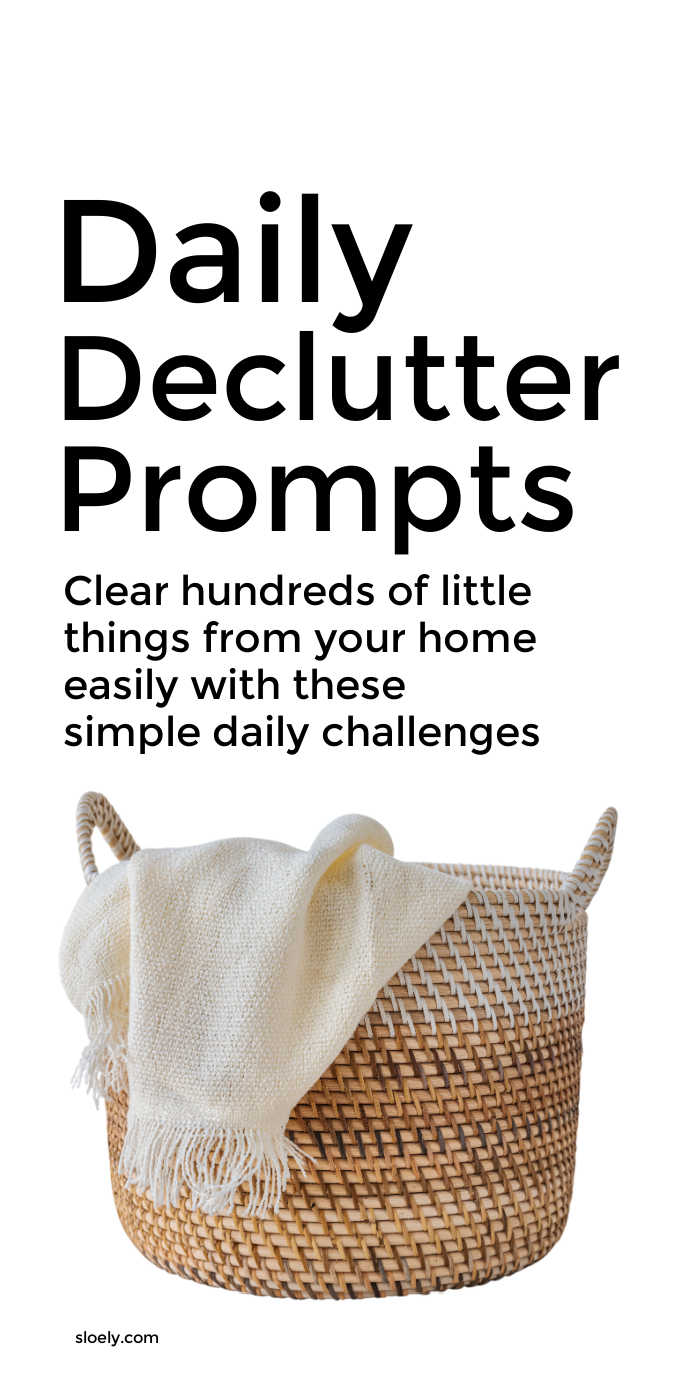 Simple Daily Declutter Challenge