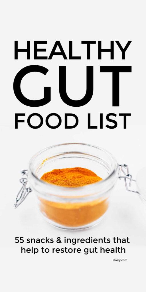 Healthy Gut Food List