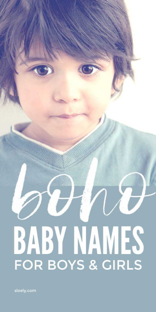 Unique Boho Baby Names For Boys and Girls