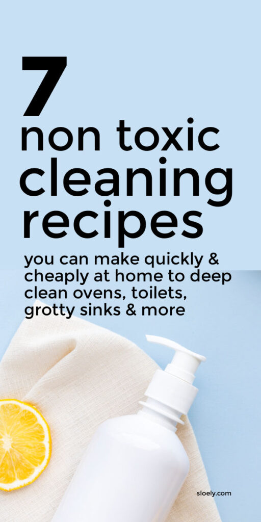 Easy DIY Non Toxic Cleaning Recipes