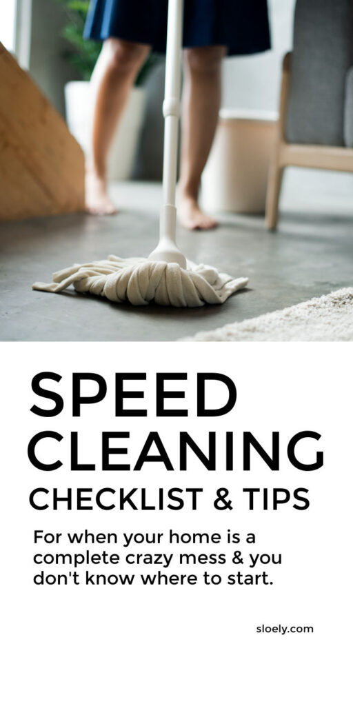 Speed Cleaning Checklist