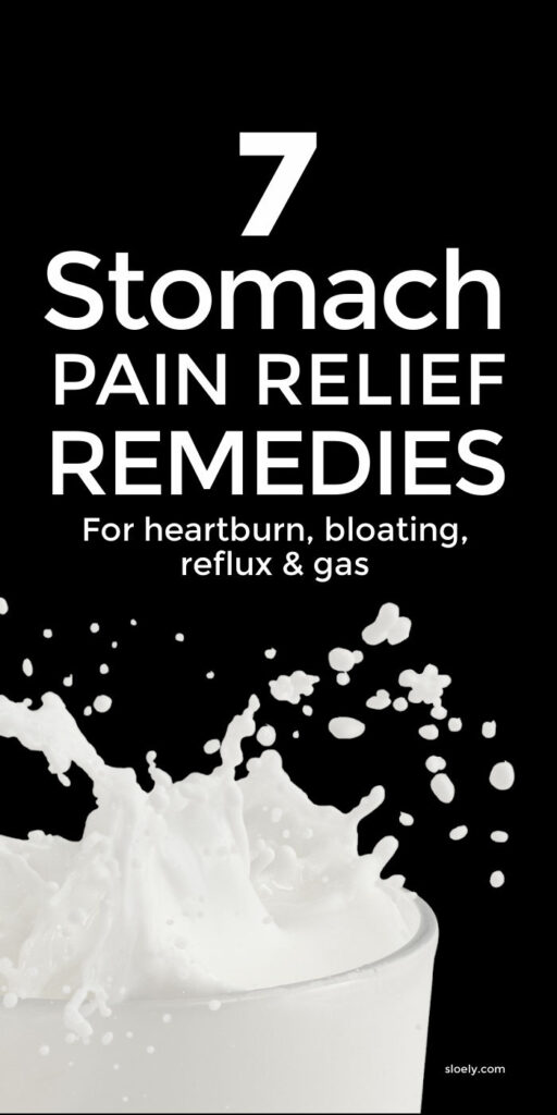 Stomach Pain Relief Remedies