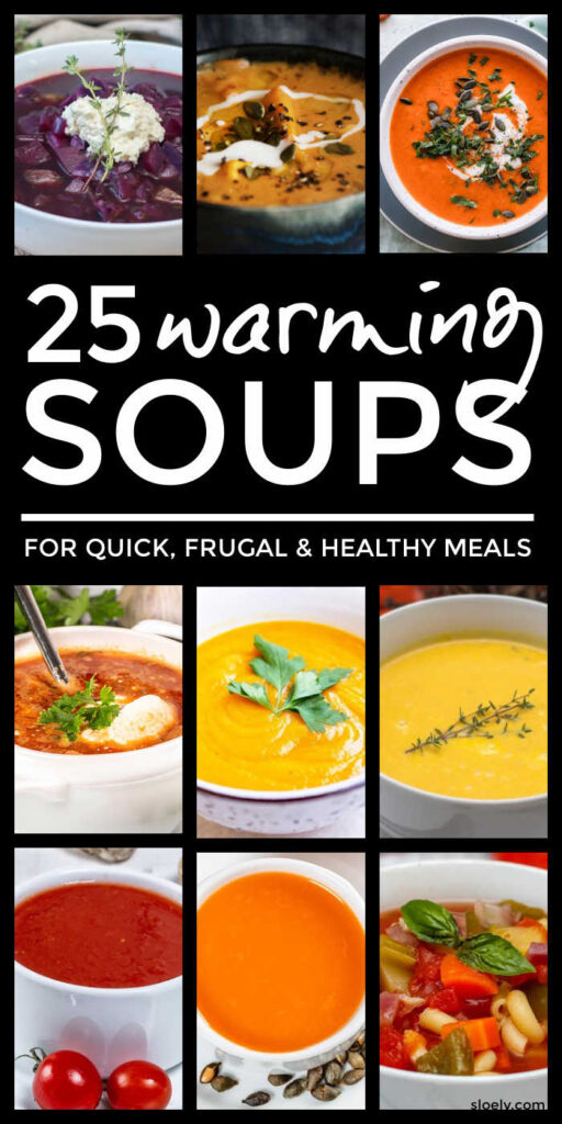 Frugal Healthy Warming Soups