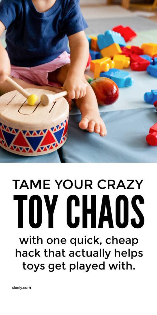 Toy Organization Storage Hack