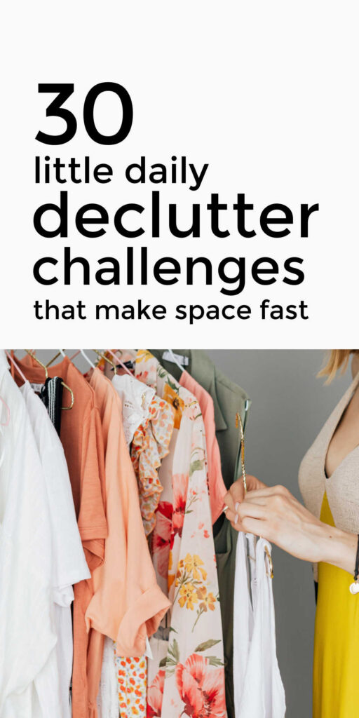 30 Day Daily Declutter Challenges