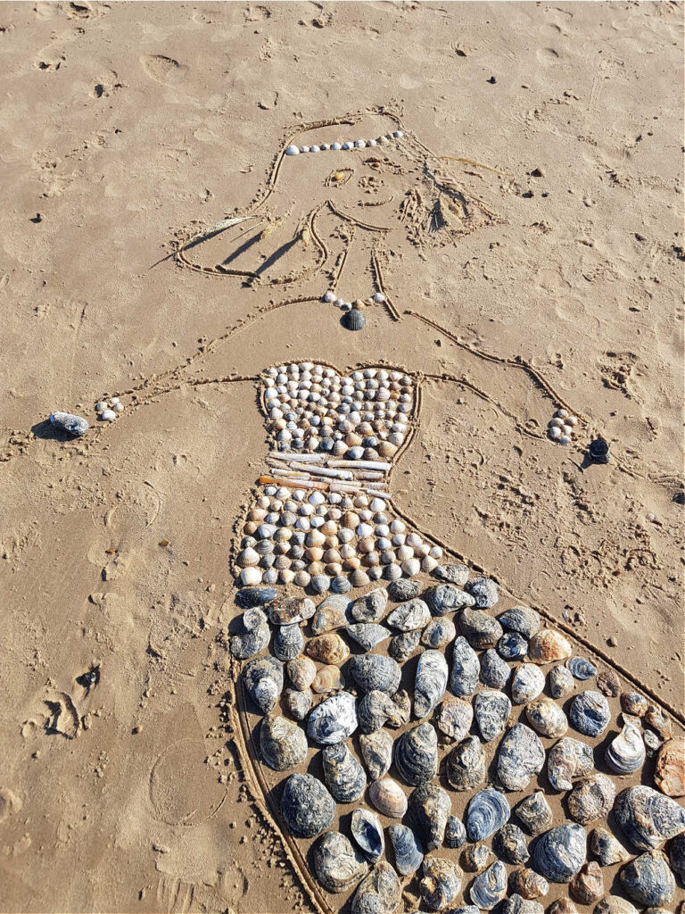 Shell Mermaids - Outdoor Activities For Kids On The Beach