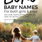 Boho Baby Names For Girls And Boys