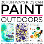 Painting Activities Outdoors For Kids