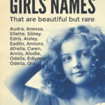 Rare Old Fashioned Girls Names