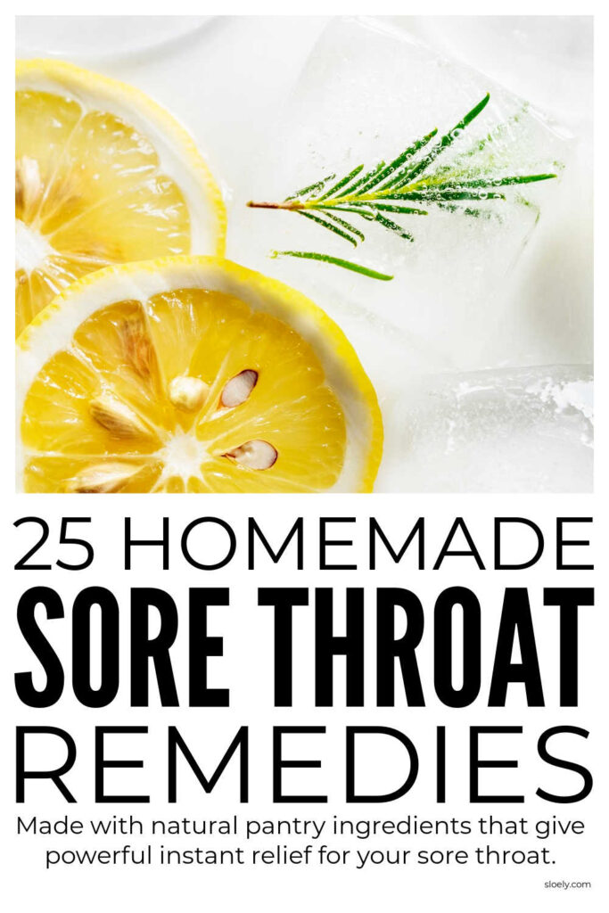 Homemade Sore Throat Remedies