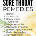 Instant Sore Throat Remedies