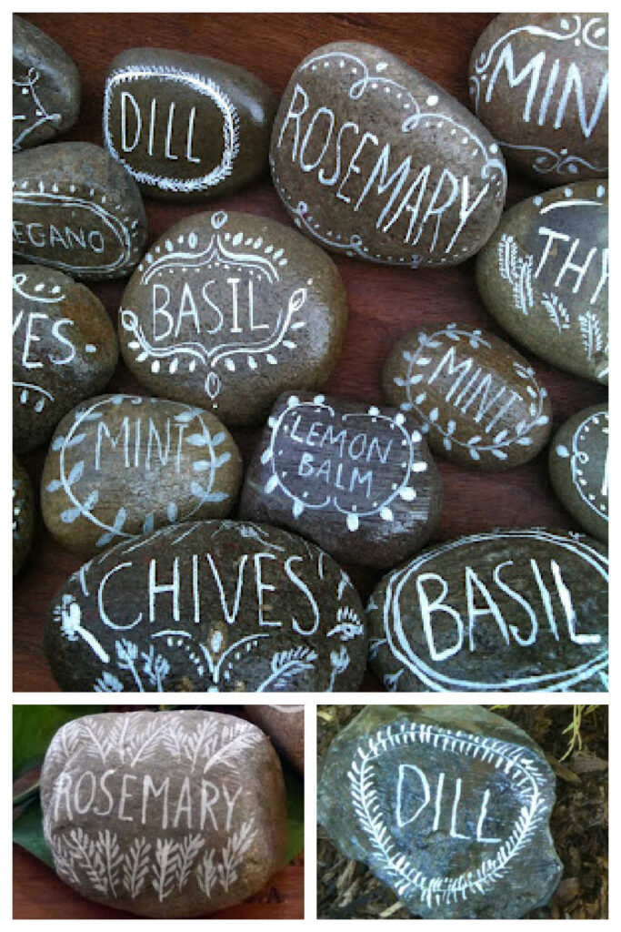 Stone Plant Markers As A Cheap DIY Christmas Gift