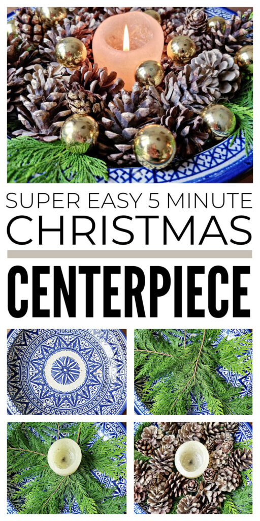 How To Make Easy Christmas Table Centerpiece
