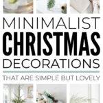 Simple Minimalist Christmas Decorations