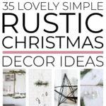 Simple Rustic Christmas Decor Ideas
