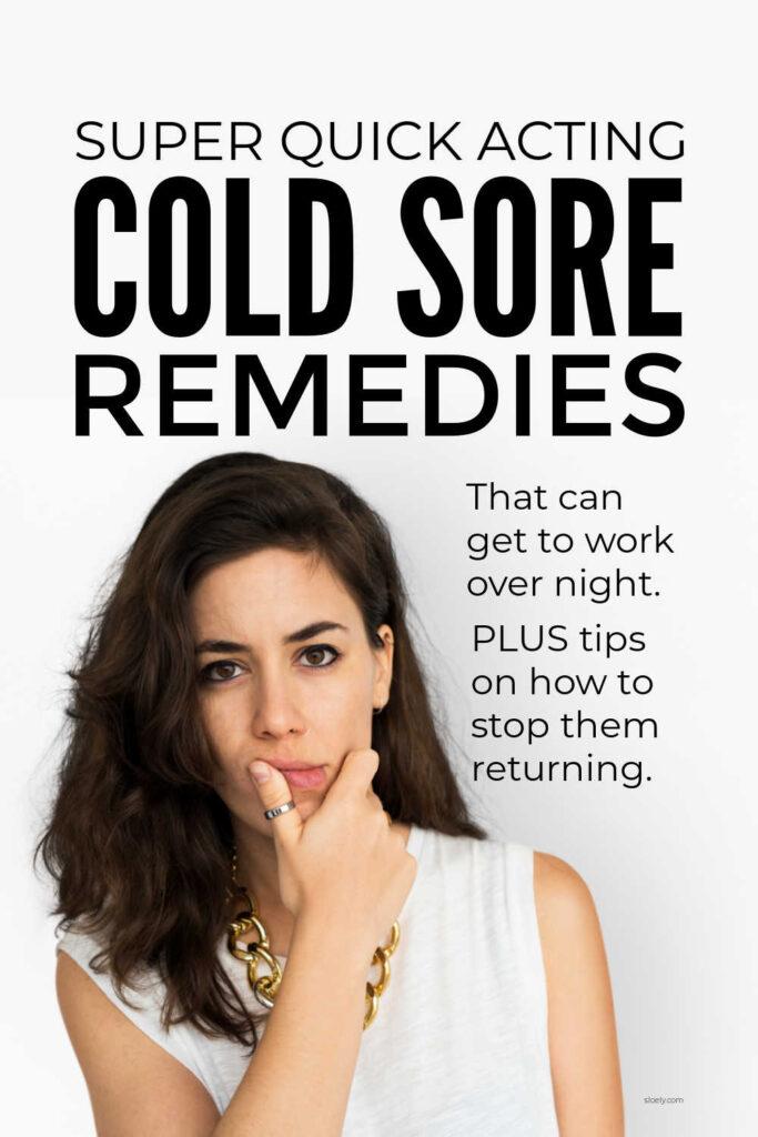 What Kills A Cold Sore Fast