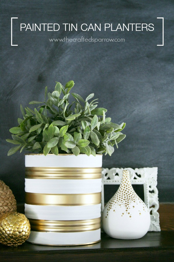 Painted Tin Can Planter