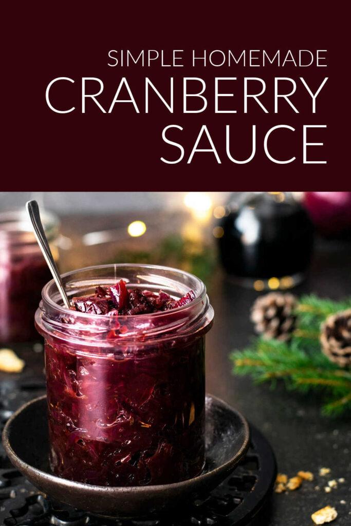 Simple Homemade Cranberry Sauce