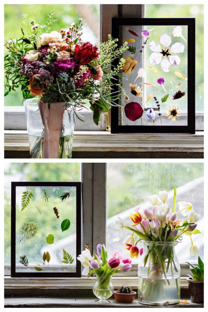 Inexpensive DIY Garden Gifts - Pressed Flower Frames