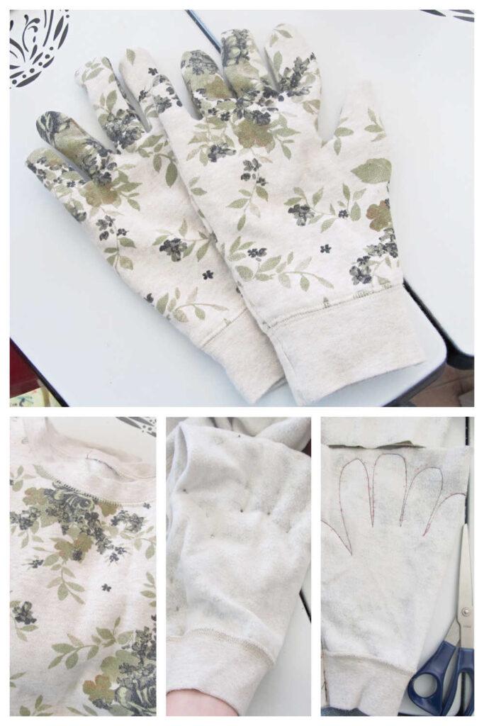 Inexpensive DIY Garden Gifts - Upcycled Garden Gloves