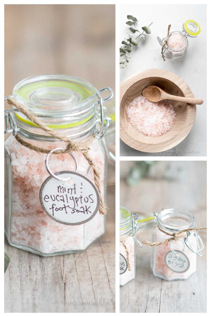 Homemade Foot Soak As A Mini Mason Jar Gift