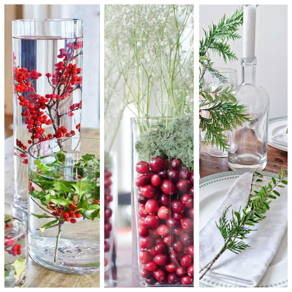 Quick Easy Christmas Table Decorations