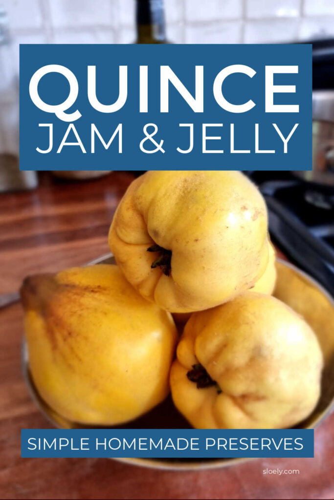Homemade Quince Jam & Jelly