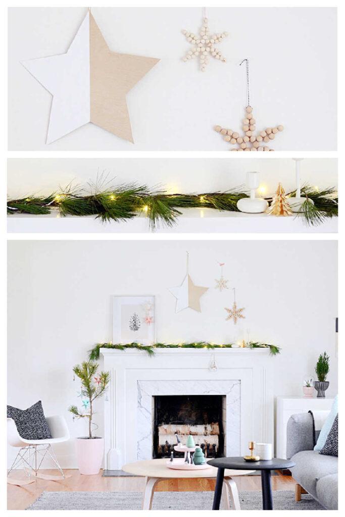 Rustic Christmas Decor Ideas - Mantelpiece