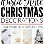 Rustic Style Christmas Decorations