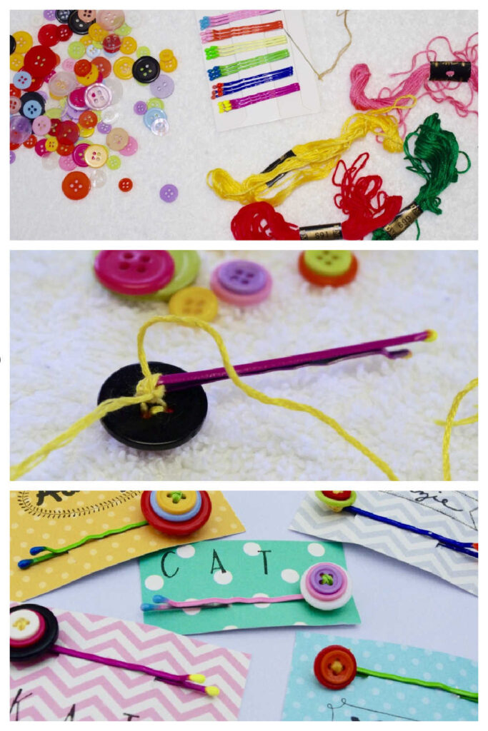 Simple Handmade Gift - Button Flower Bobby Pins