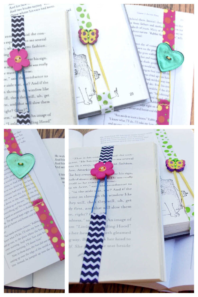 Simple Handmade Gift - Button Bookmark