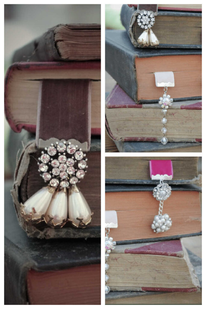 Simple Handmade Gift - Vintage Earring Bookmarks
