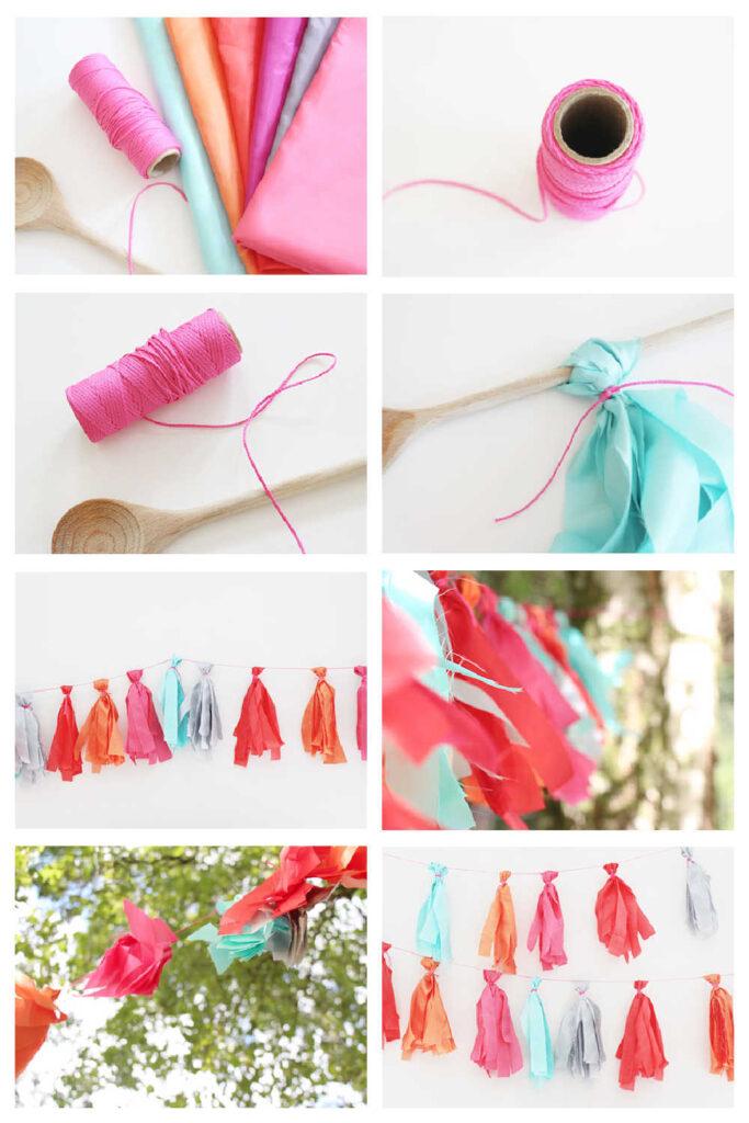Simple Handmade No Sew Bunting