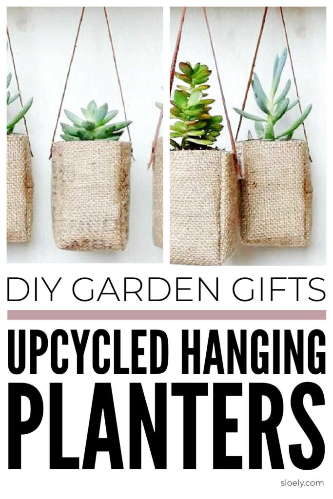 Upcycled Planter Baskets As DIY Garden Gifts